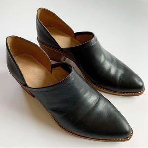 Madewell The Brady Lowcut True Black Leather Booti